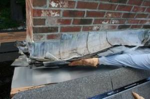 damaged roof flashing